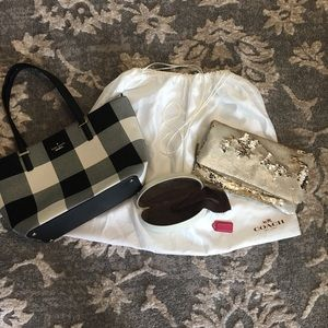 Coach dust bag and sunglasses case